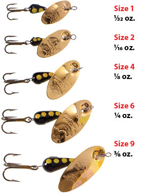 5 black panther trout lures 10 size 6 fishgrub spinners 5 yellow Martin
