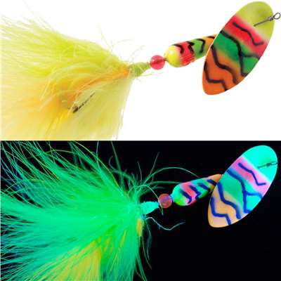FishSeeUV™ Salmon & Steelhead Marabou Ch/Lime/Orange