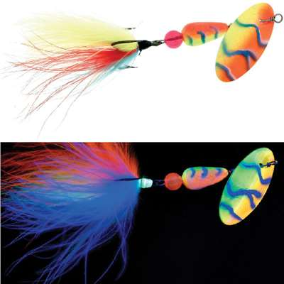 FishSeeUV™ Marabou Ch/Orange/Blue